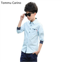 England Style 2017 Spring New Camisa Spring Hot Selling Fashion Boys Shirts Comfort Cotton Kids clothes Business Male Shirt