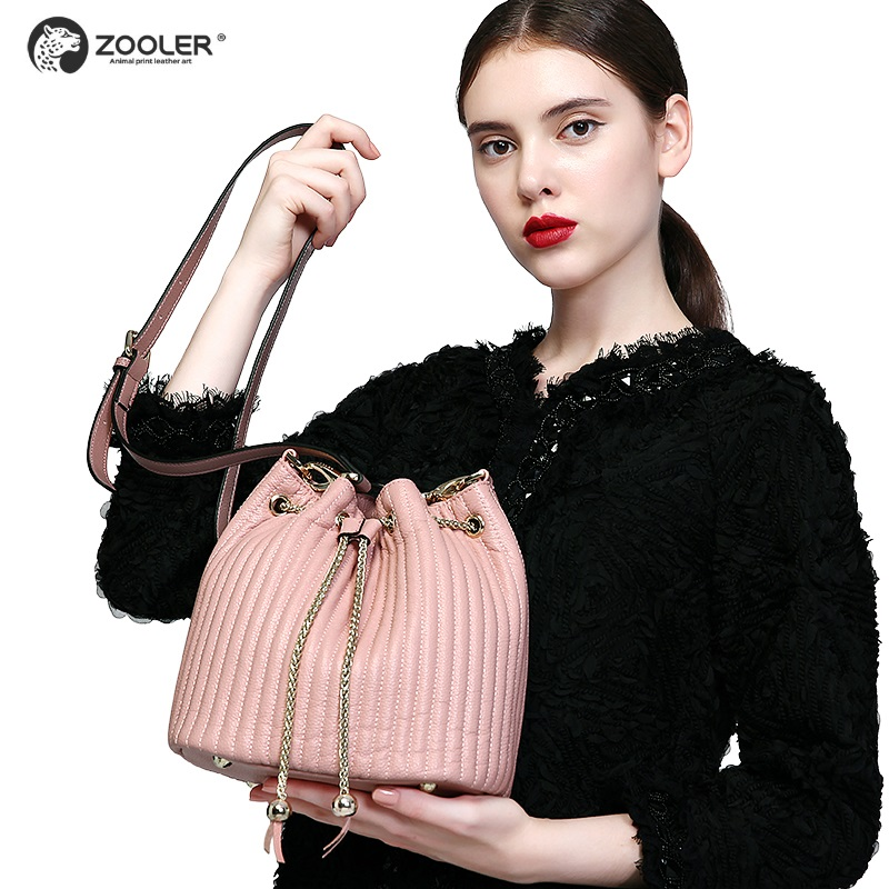 Fashion Hot Bucket genuine leather bags women ZOOLER shoulder messenger bag lady Classic bolsos mujer de