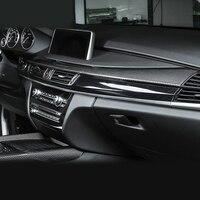 100 Real Carbon Fiber Center Console Stripe Cover Trim For BMW X5 F15 2014 2017 X6