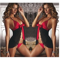 ГОРЯЧАЯ! новый 2016 красный сексуальное нижнее белье кружева женские ремень промахи платье сексуальное женское белье дамы скольжения платье интимные Промахи