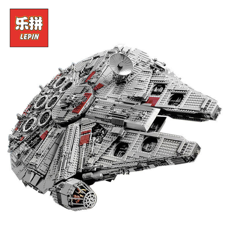 LEPIN 05033 Star Wars Ultimate Collector's Millennium Falcon Model Building Kit Blocks Bricks Toy Compatible LegoINGlys 10179 lepin 05035 star wars death star limited edition model building kit millenniums blocks puzzle compatible legoed 75159
