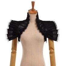 Укороченный корсет в стиле стимпанк для женщин, гофрированный воротник, наплечная повязка, аксессуар для косплея в викторианском стиле