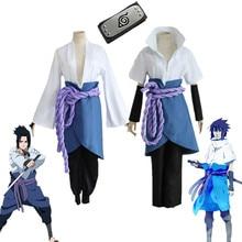 Naruto Uchiha Sasuke Cosplay Kimono Conjunto Completo de Terceira e Quarta Geração