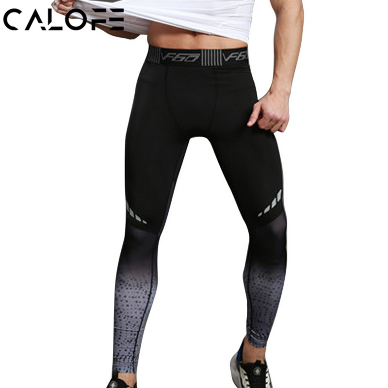 CALOFE Men Yoga Pants Sportswear Trousers Men Gym Training Pants Athletic Male Fitness Sports Leggings Quick Dry Yoga Pants