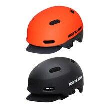 2019 nuevo casco de bicicleta para adultos GUB moldeado en general Retro luz trasera bicicleta de montaña casco de tapa extraíble 54-58cm negro naranja