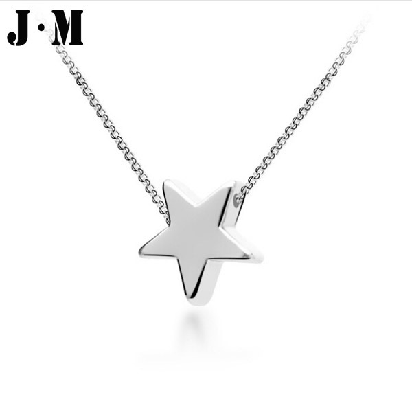 Italina elegant lady star necklace silver gold plated fine chain italina elegant lady star necklace silver gold plated fine chain jewelry five pointed star pendant necklace for women rihanna in pendant necklaces from aloadofball Images