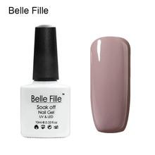 Belle Fille Nude Gel Nail Polish 12 Colors Beige Varnish UV gel for LED Lamp Soak Off Gel Polish Nude Series Colors Nail Varnish