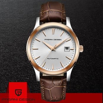 PAGANI DESIGN 2019 Men brand Automatic Mechanical Watches Business Waterproof Men Leather Gold WatchTop Luxury Sport Watch reloj