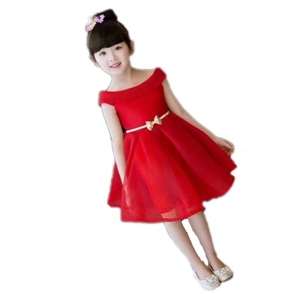 2018 Evening Dress Princess Dress Kids Clothes Elegant Girls Wedding Party Dress Birthday Girls Prom Dress Children Clothing E38 black red summer girls dress sleeveless cotton princess dress kids clothes elegant girls wedding party dress children clothing