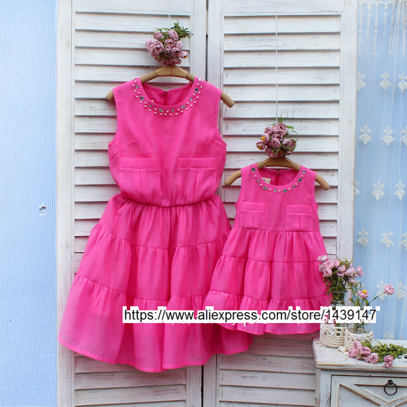 Children clothing Mother and Daughter Summer Dresses,2-10 years old Child baby Girl Clothes, Women plus Large size increase 4XL children clothing mother daughter winter coat cotton jacket pink 2 10 years old child baby girl clothes women large size 4xl