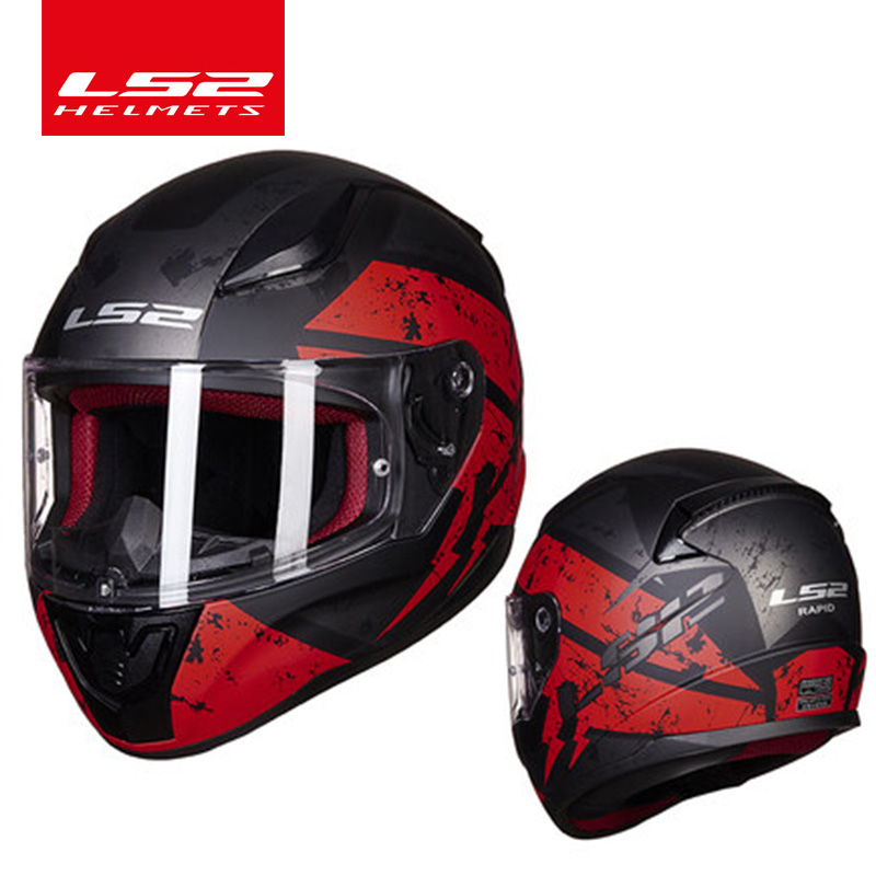 Original LS2 FF353 Full Face motorcycle helmet high quality ABS moto casque LS2 RAPID street racing helmets ECE Approved original ls2 ff353 full face motorcycle helmet high quality abs moto casque ls2 rapid street racing helmets ece approved