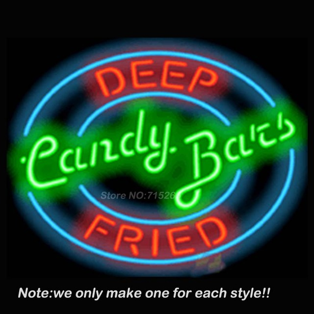 Deep fried candy bars neon sign store beer recreation room neon deep fried candy bars neon sign store beer recreation room neon signs handcraft real glass tube aloadofball Gallery