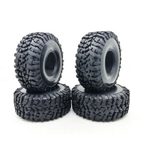 4PCS 120MM 1.9 Inch Soft Tires For SCX10 90046 D90 TRX4 RC Truck Crawler 1.9/2.2 Rim