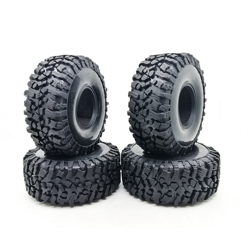 4PCS 120MM 1.9 Inch Soft <font><b>Tires</b></font> For SCX10 90046 D90 TRX4 <font><b>RC</b></font> Truck <font><b>Crawler</b></font> 1.9/<font><b>2.2</b></font> Rim image
