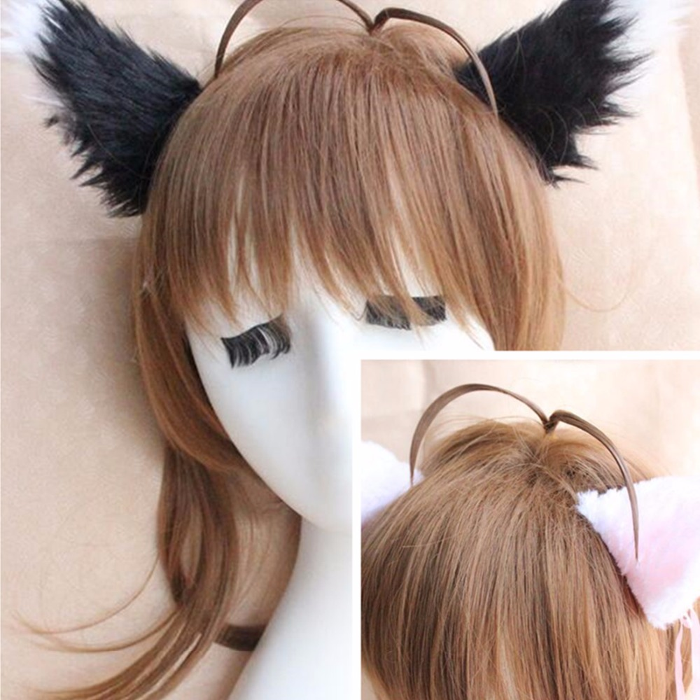 Cartoon animal Fox Ears Plush fox Ears Hair clip Headband Cosplay Headwear prom Props