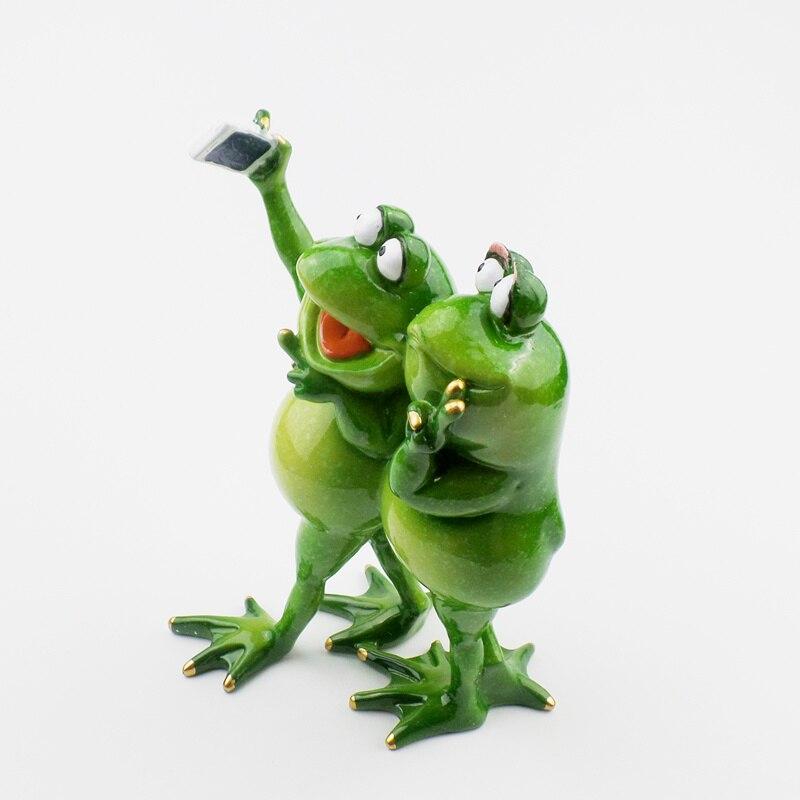 Kawaii Αστεία Frog Ράγα Ειδώλια - Διακόσμηση σπιτιού - Φωτογραφία 4