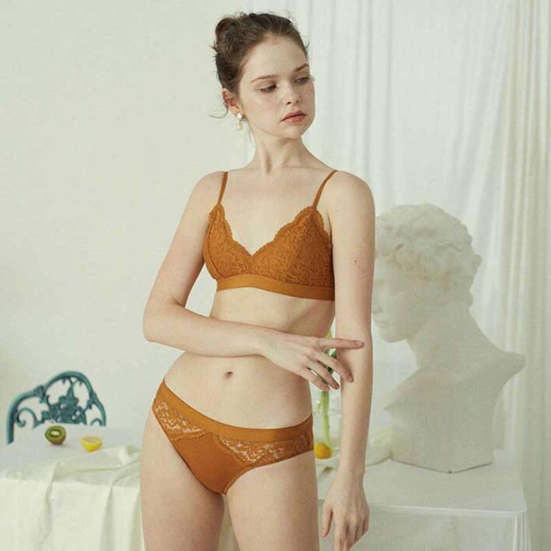 Wriufred Confortável Respirável Conjuntos de Sutiã Mulheres V Profundo Roupa Interior De Algodão Push Up Bra Set Sexy Plus Size lingerie Cuecas
