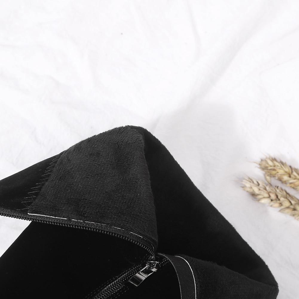 Taille Fur Up Chaudes D'hiver Gros black Doratasia Mi Fourrure Zip 41 Black Chaussures Femmes mollet Nouveau With Plus Femme 33 Ajouter Bottes Elagant BwvvYAEq