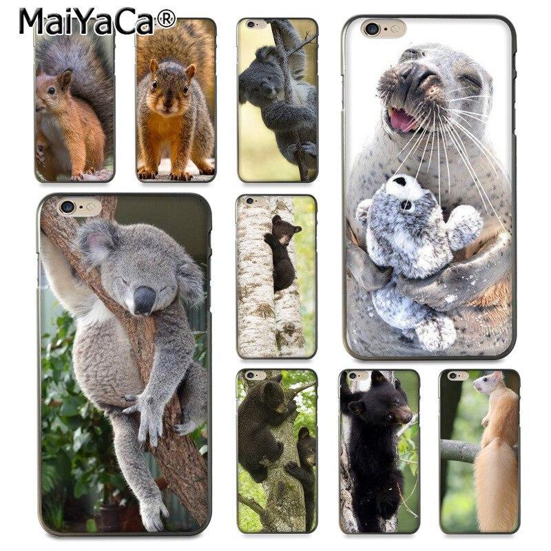 Maiyaca животных Медведь белка уплотнение рисования ТПУ телефона чехол для iphone 8 7 6 6 S Plus x 10 5 5 S SE 5 C Coque В виде ракушки