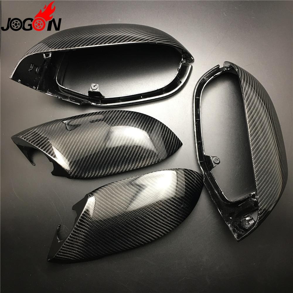 4 шт. полный набор Наборы углеродного волокна для AUDI A7 S7 RS7 4G8 2010-2017 автомобиля боковой заднего вида заднего вида зеркало заднего вида покрыти...