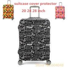 Neue stil Reisegepäck Koffer Schutzhülle Elastische Material Print Staubdicht gelten 18 zoll bis 32 zoll fällen