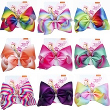 Bows Large Hair Accessories For Girl Colorful Ribbon Bow Knot Jumbo Kids Fashion Clip Dropshipping