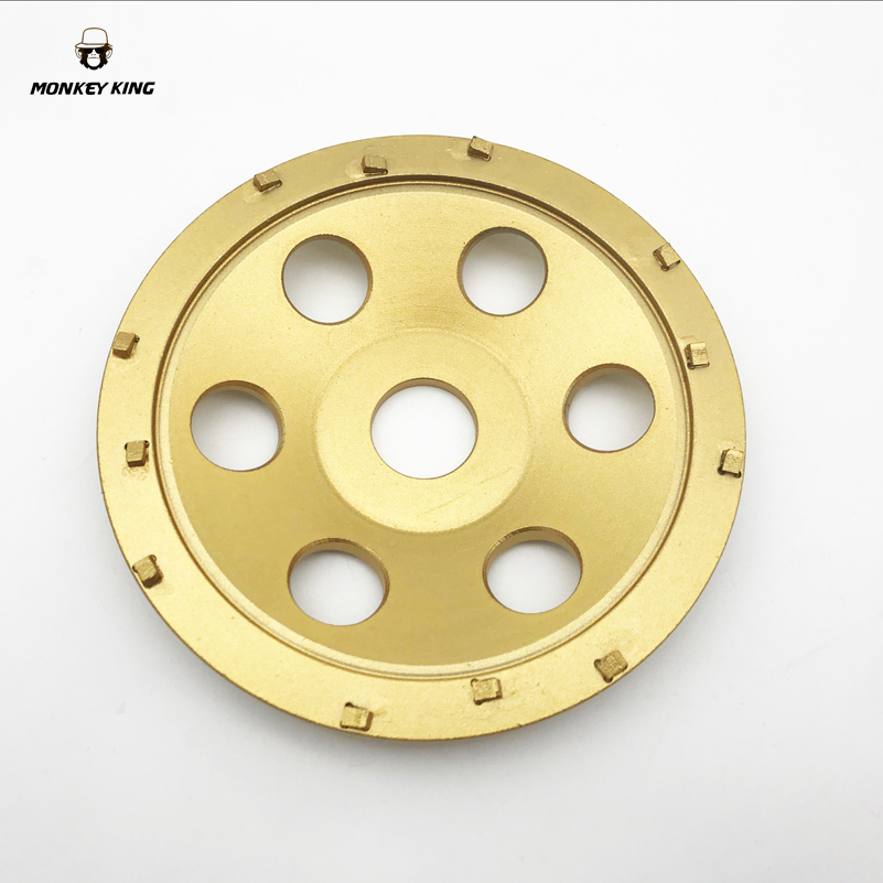 5 5 Inch 125mm PCD Segment Grinding Cup Wheels 12 Segments to remove heavy epoxy, coatings, mastic, glues