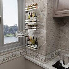 Нержавеющая сталь вращающийся ванная комната угловая полка нержавеющей стали, матовая раковина из нержавеющей стали, 2 круглый Ланч-бокс для специй, Кухня стеллаж органайзер, на стене, 180 градусов вращающийся