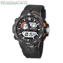 New Fashion Men Luxury Analog Quartz Digital Watch Brand ALIKE Casual Watches Man Waterproof Sports Military Watches PENGNATATE