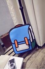 Новая тенденция личности пакет 3D трехмерная пакет второй элемент студенческий стиль комиксов двойной рюкзак студент мешок
