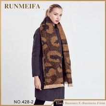 Amazing New Arrival Wool Blend Blanket Oversized Tartan Winter Scarf Women leopard Wrap Shawls and Scarves