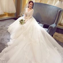kejiadian Plus Size Luxury Long Sleeve Wedding Dresses gown