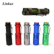 Colorful Mini Flashlight 2000 Lumens CREE Q5 LED Torch AA/14500 Adjustable Zoom Focus Torch Lamp Penlight Waterproof For Outdoor(China)
