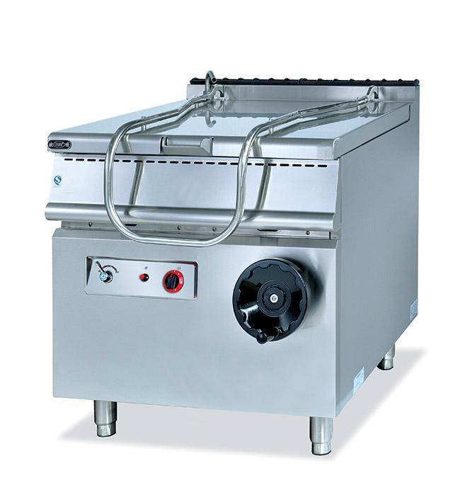 Équipement vertical de cuisine de nourriture de casserole de braising de gaz de position libre commerciale d'acier inoxydable de qualité superbe usine