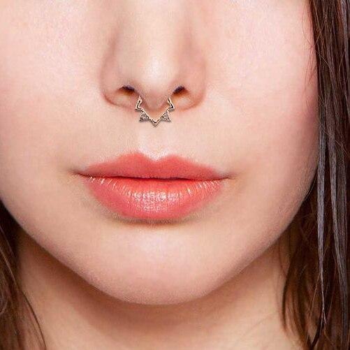 Пирсинг носа в стиле панк перегородки из нержавеющей стали 316l