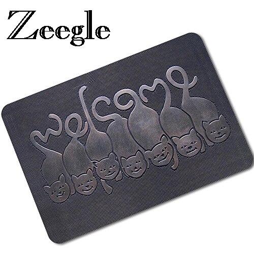 Zeegle 3D Stampato Tappetino di Gomma Zerbino Tappeti All'aperto Benvenuto Entrane Tappetini antiscivolo Tappeti Da Cucina Bagno Tappeti