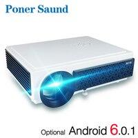 Poner Saund LED96 + Проектор 6.0 Android проектор 3D Домашний кинотеатр WIFI 100 дюймовый экран ПОДАРОК Full HD 1080P HDMI Видео Proyector
