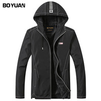 BOYUAN Male Coat Hooded Jacket Men 2017 Spring Autumn Jacket Coats Male Casual Men S Jackets