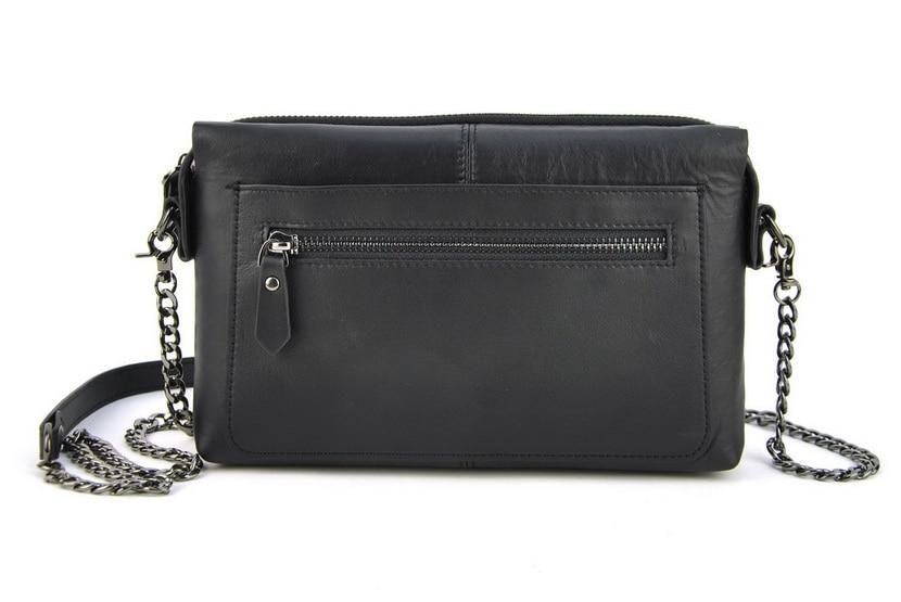 все цены на Women Genuine Real Leather Box Handbag Small Shoulder Bag Lady Wrist Clutch Purse Fashion Casual Chain Bags Satchel Lady Pouch онлайн