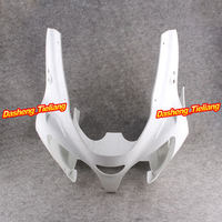 GZYF Motorcycle Upper Front Cover Cowl Nose Fairing for Kawasaki Ninja ZX6R 2000 2001 2002 Injection Mold ABS Bodykit Unpainted