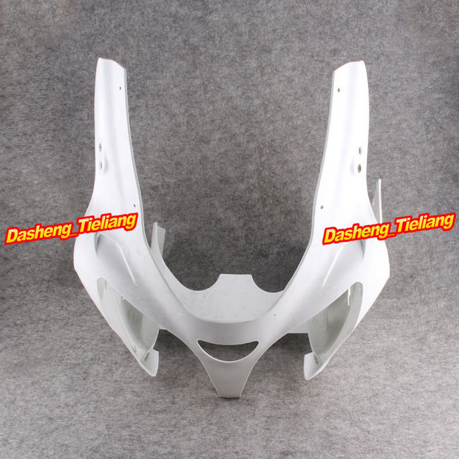 Motorcycle Upper Front Cover Cowl Nose Fairing for Kawasaki Ninja ZX6R 2000 2001 2002 Injection Mold ABS Bodykit Unpainted for kawasaki zx6r zx 6r 2000 2002 motorbike seat cover brand new motorcycle white fairing rear sear cowl cover free shipping h34