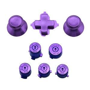 Image 2 - アルミニウム金属サムスティックジョイスティックアナログキャップ弾丸 ABXY ガイドボタン D パッド Dpad ボタン Xbox 1 コントローラの交換