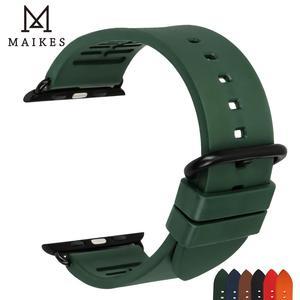 Image 5 - Akcesoria do zegarków seria 5 4 3 2 1 do opaski do zegarka Apple 44mm 42mm i pasek do zegarka Apple 40mm 38mm gumowe paski do zegarków Fluorocarbon