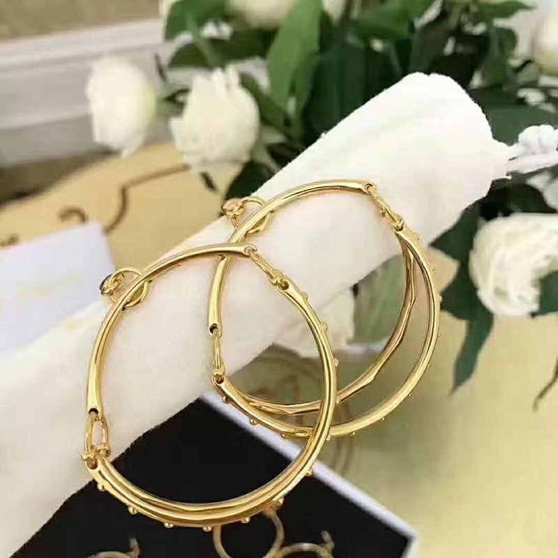 2019 With Fashion Personality Circle Earrings Brass Men And Women Can Wear Earrings Jewelry Wholesale Gold Ear Rings