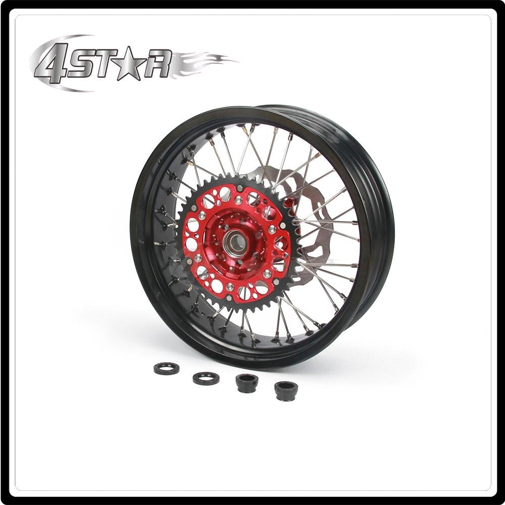 Motorcycle 5.0*17 Rear Wheel Rim Hubs Set For HONDA CR125 CR250 CRF250R CRF450R CRF450X CRF250X