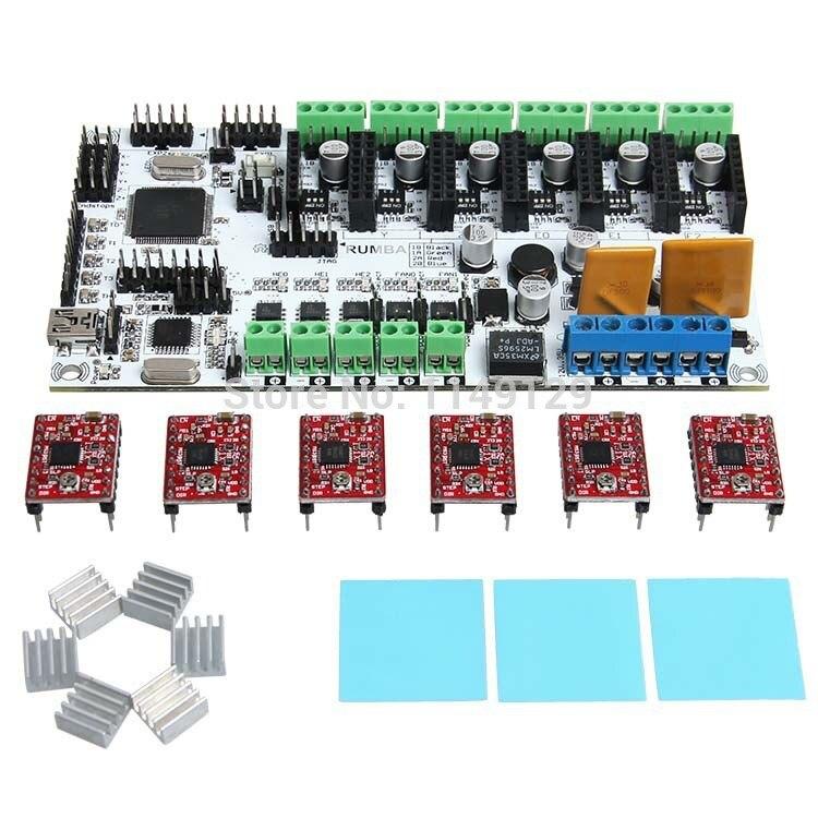 Envío Libre 3D Impresora Kits de Inicio Placa Madre Junta Rumba Con 6 unids A498