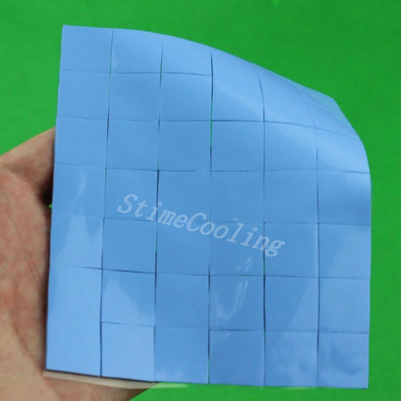 2000PCS Lot 15mm*15mm*1mm Laptop SMD DIP IC GPU BGA Chip Silicone Conduction Heatsink Thermal Paste Compounds Pad Pads