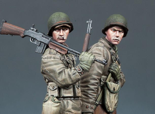 Scale Models 1/35 WW2 US infantry 2 groups WWII Resin