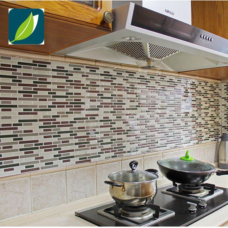 Vinyl Peel And Stick Decorative Backsplash Kitchen Tile
