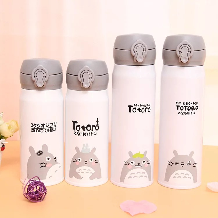 350ml/500ml Cartoon Children Water Bottle Thermal Bottle Bounce Buckle Stainless Steel Vacuum Baby Travel Insulation Cup